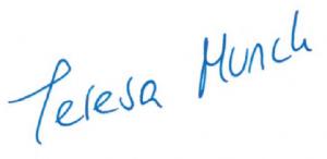 Unterschrift von Teresa Munck